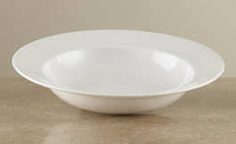 Pure bone china™ Plain Edge Risotto Bowl