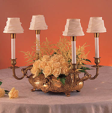 Bronze French Epergne with mini Austrian shades