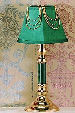 Brass Lamp with Fabric Shade