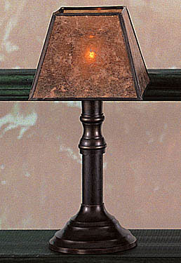 Dark Bronze Lamp with Mica Shade