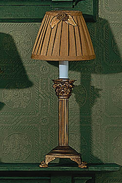 Bronze Electric Lamp with candelabra bulb